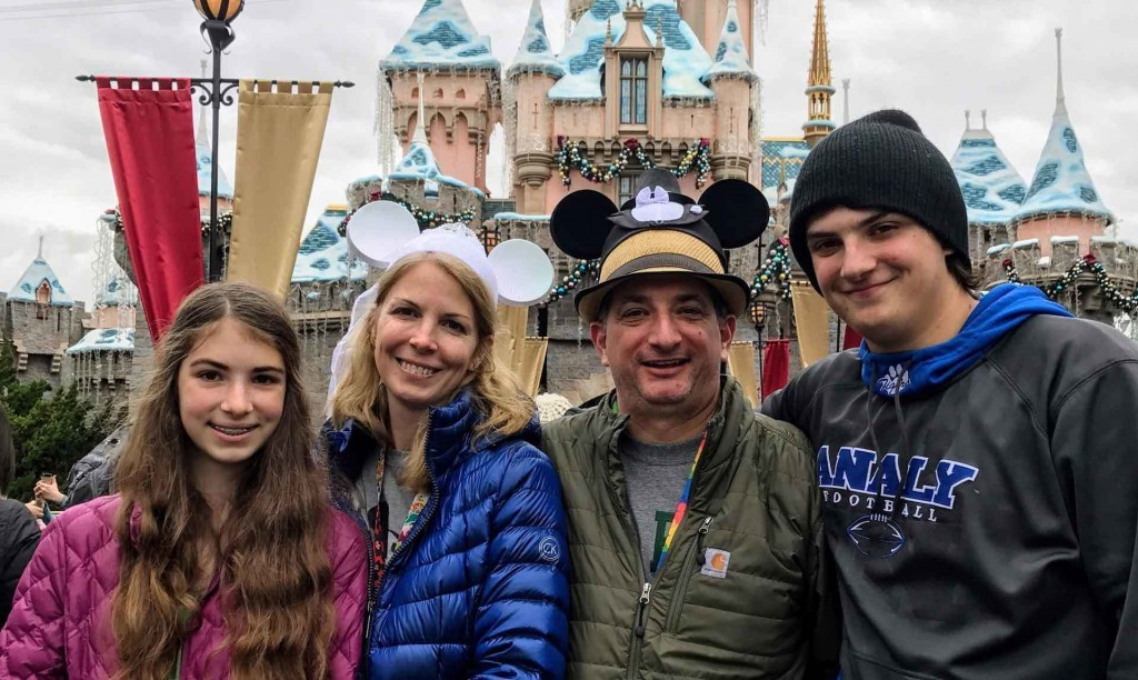 Parks Family at Disneyland in 2017